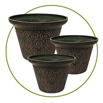 Damask Planter-Set of 3